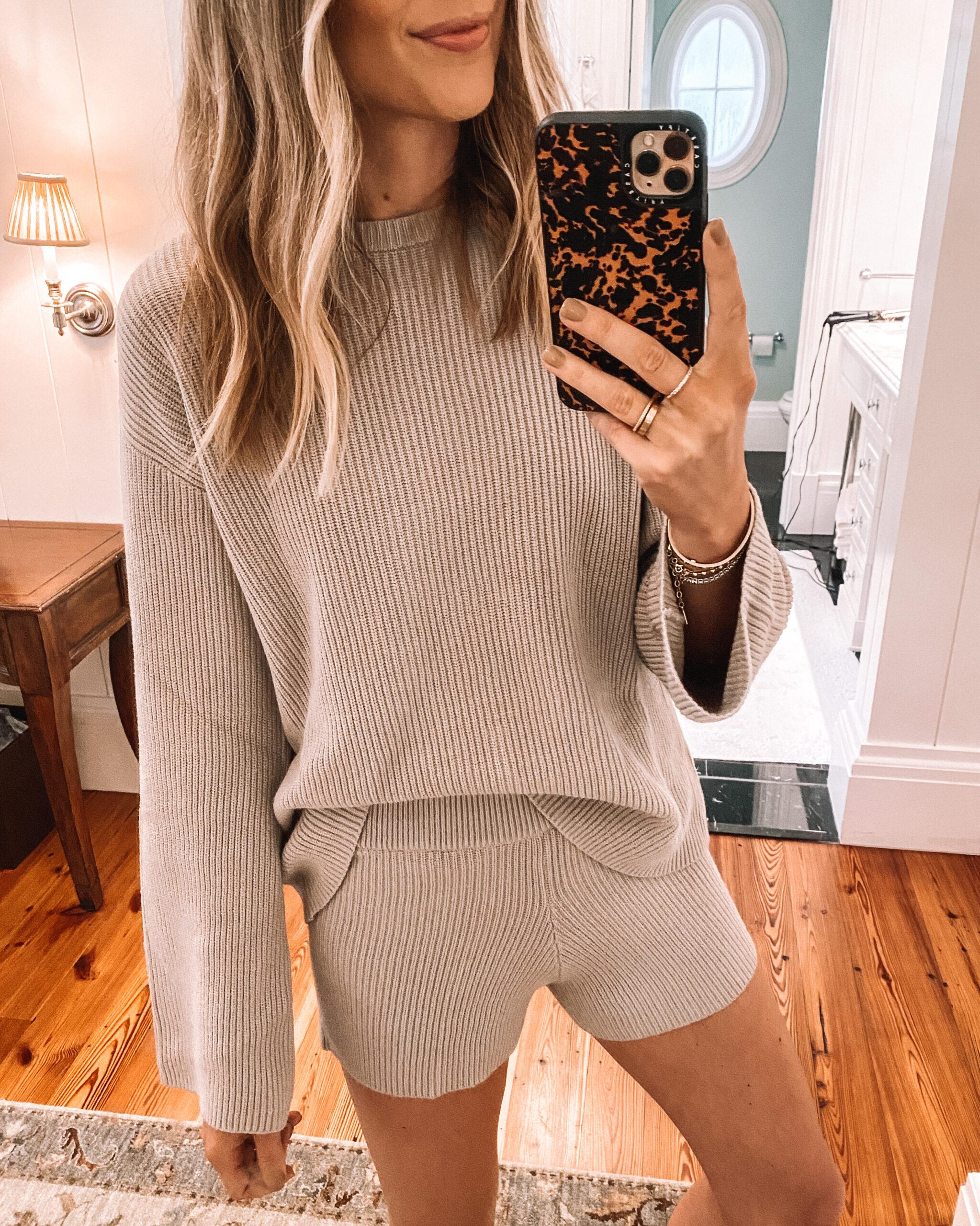 Fashion Jackson Amazon Fashion Sweater Short Loungewear Set