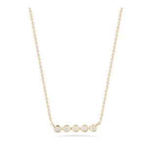 DR bezel bar necklace