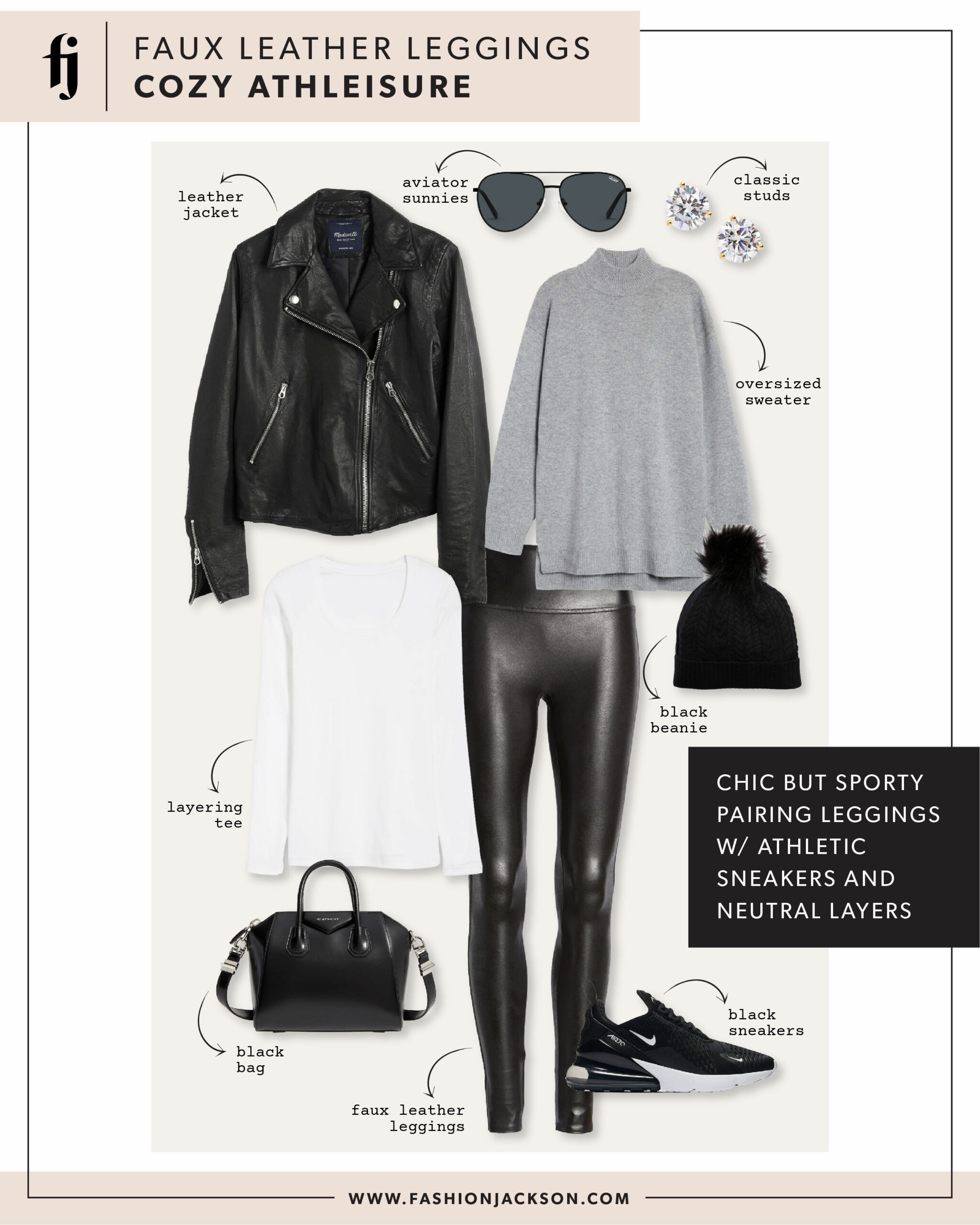 Spanx Faux Leather Leggings Outfit