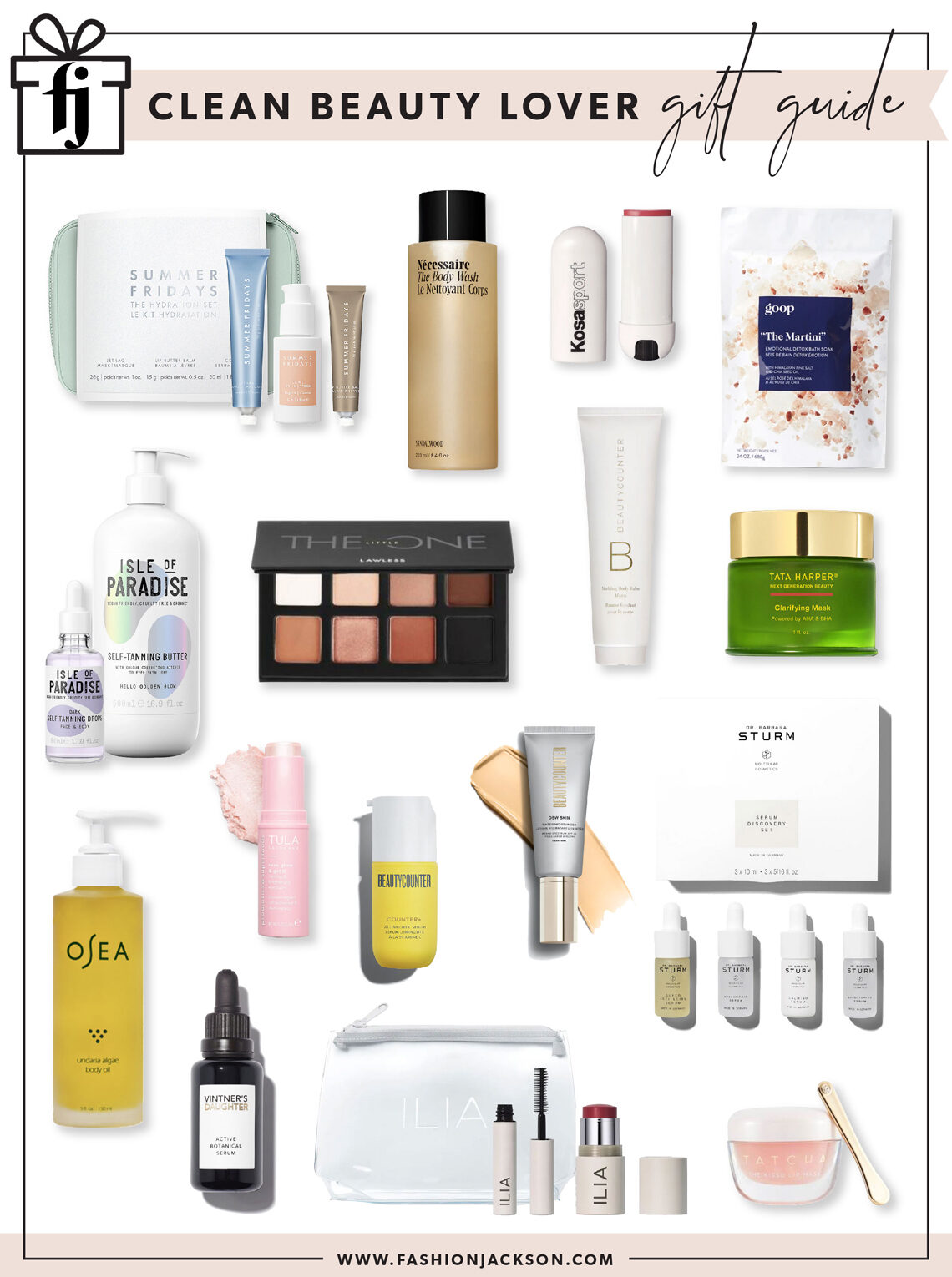 Fashion Jackson Holiday 2020 Clean Beauty Gift Guide