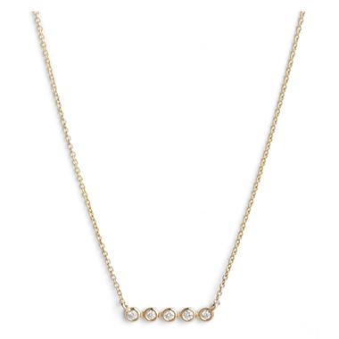 Dana Rebecca Lulu Jack Bezel Diamond Bar Necklace