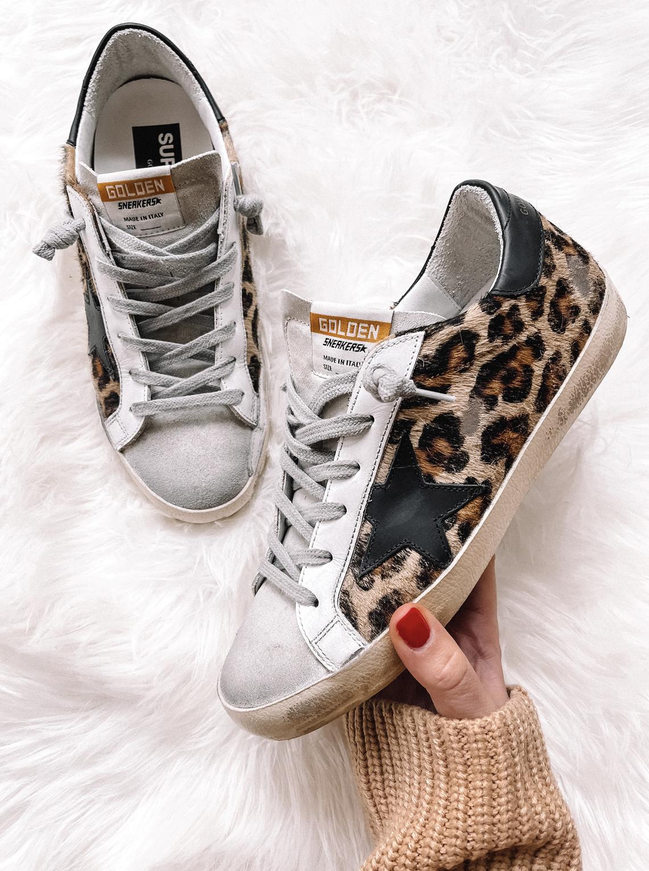 Fashion Jackson Golden Goose Leopard Sneakers