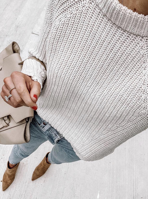Fashion Jackson Wearing Amazon Goodthreads Grey Knit Sweater