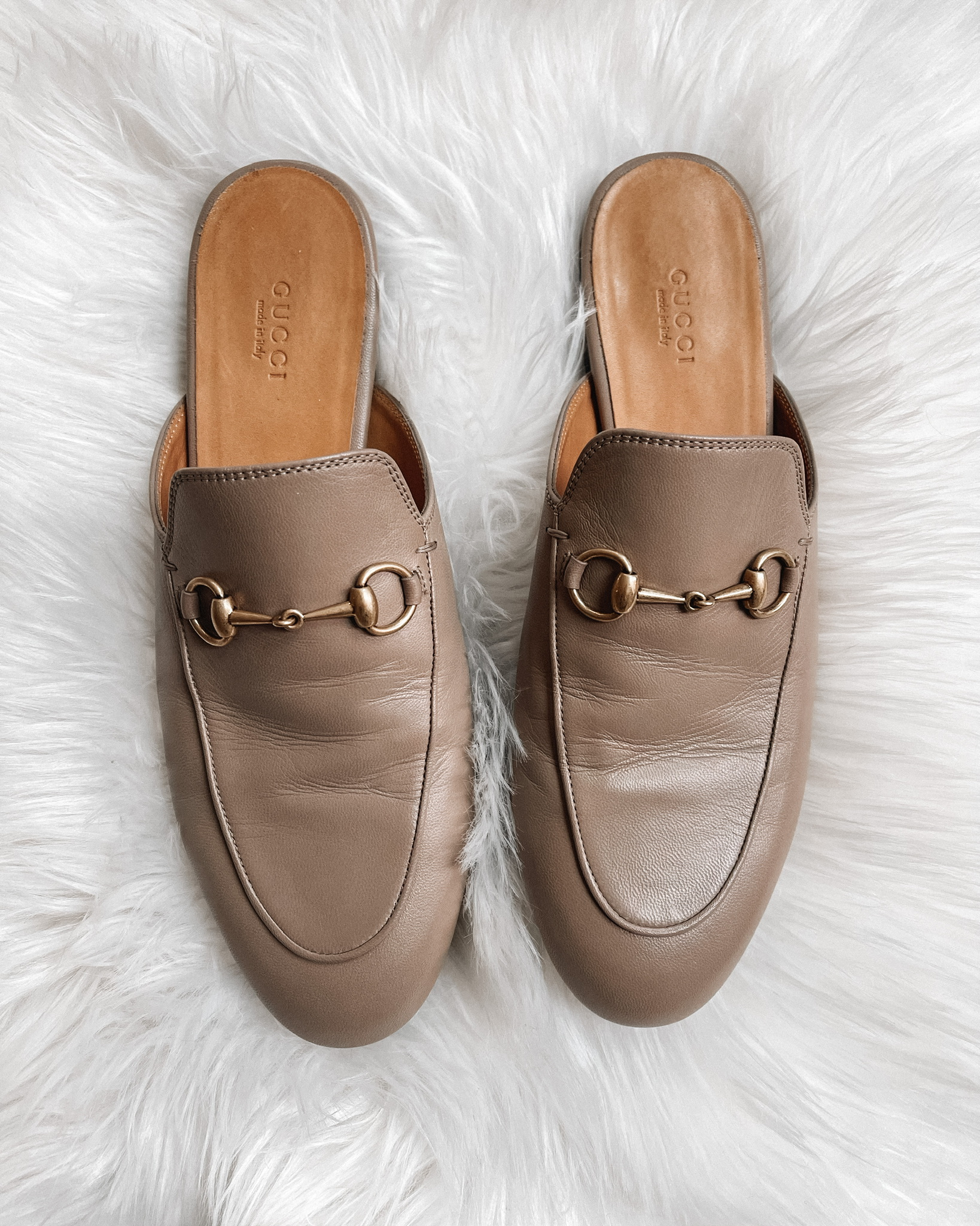 Fashion Jackson Gucci Princetown Mules Mud