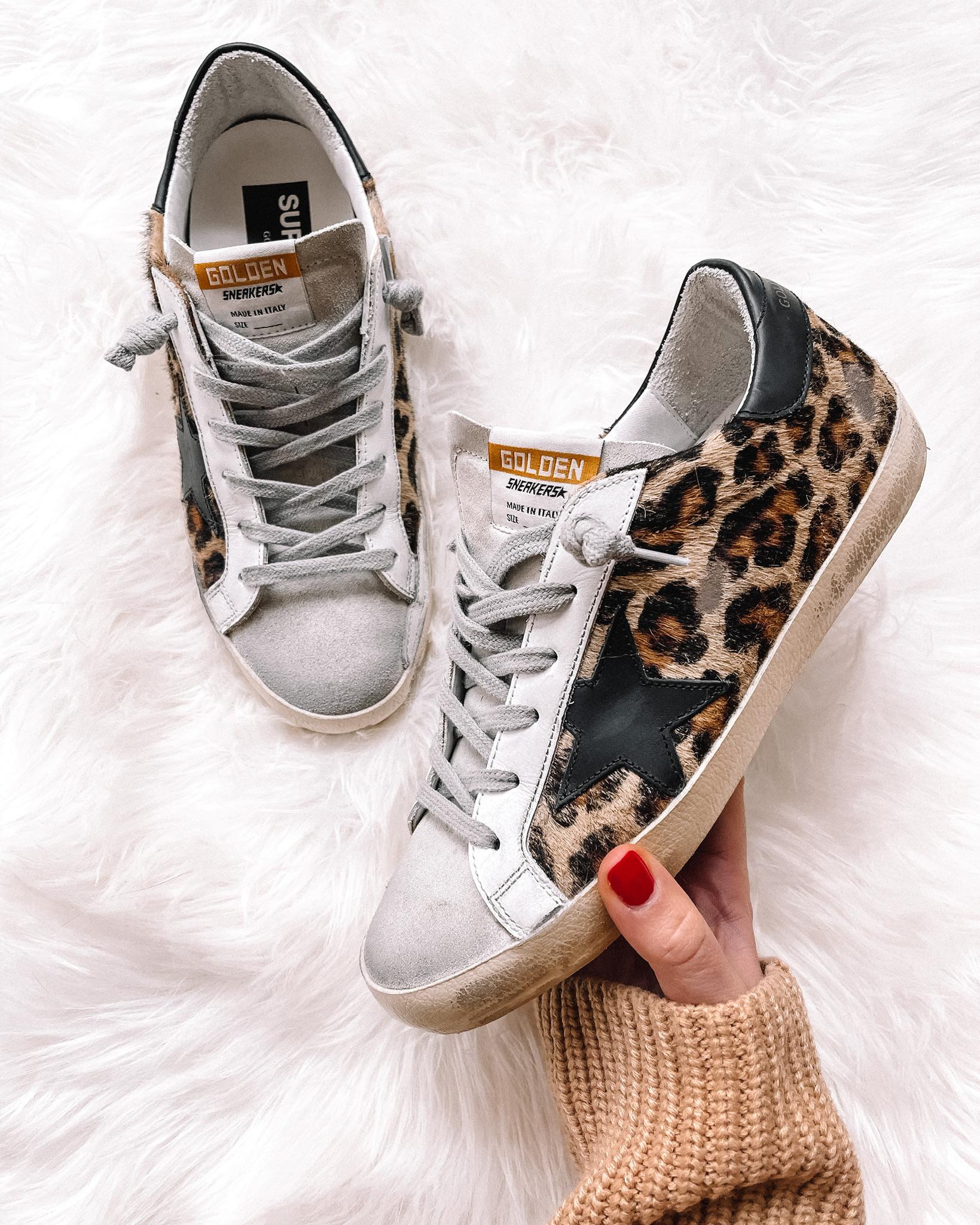 Fashion Jackson Golden Goose Leopard SuperStar Sneakers