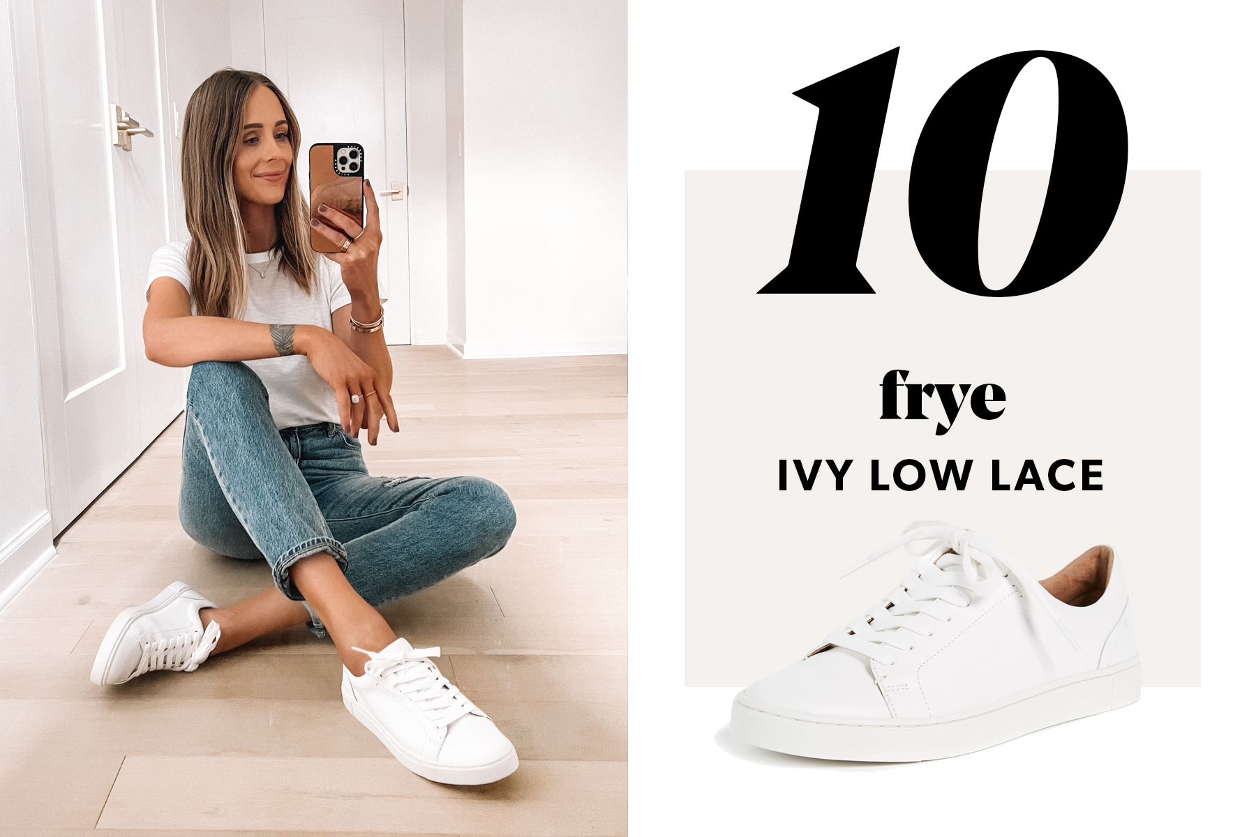 fashion jackson wearing frye white sneakers