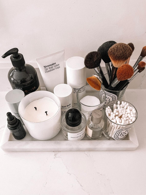 Fashion Jackson Bathroom Marble Tray Countertop Organization