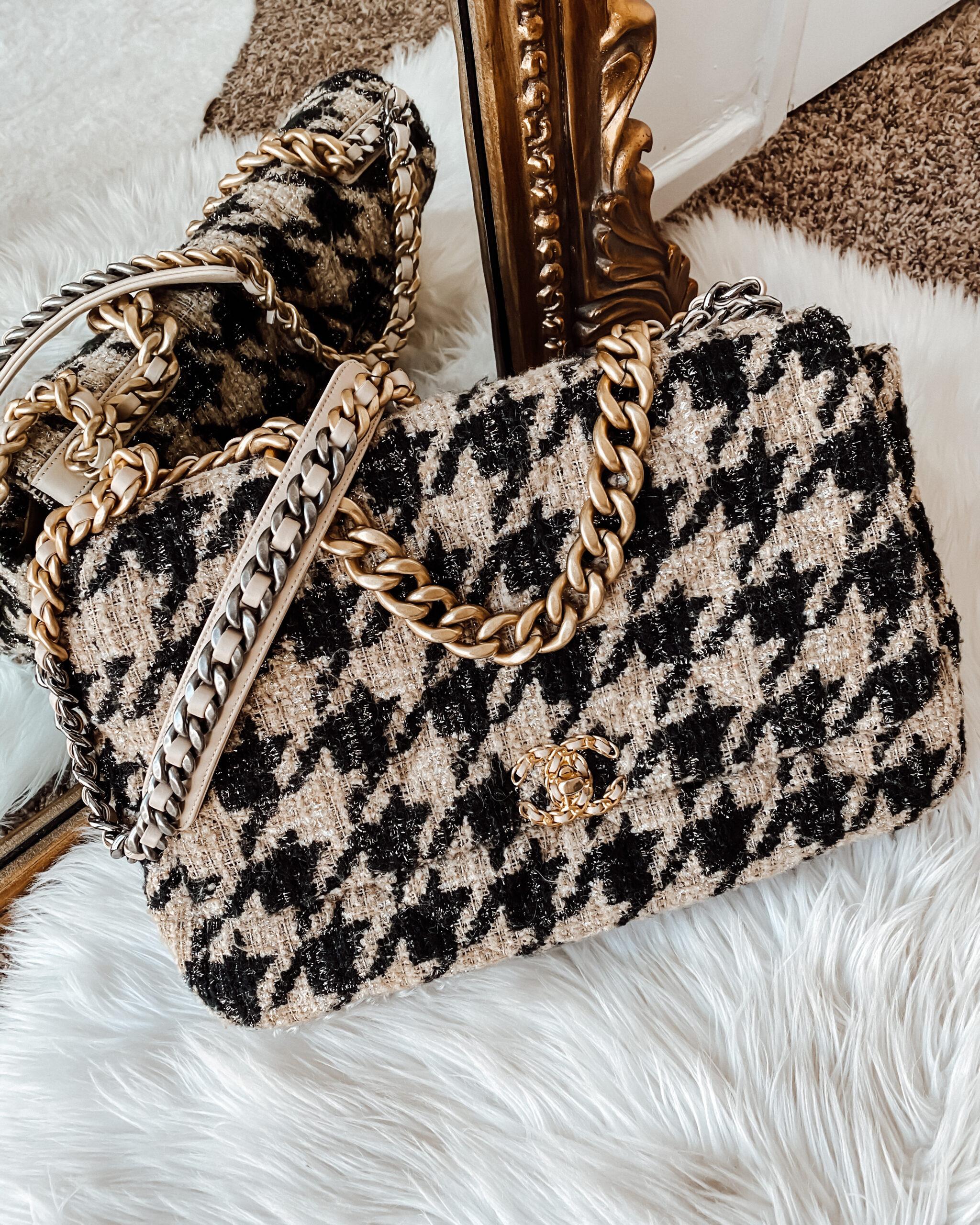 Fashion Jackson Chanel 19 Houndstooth Maxi