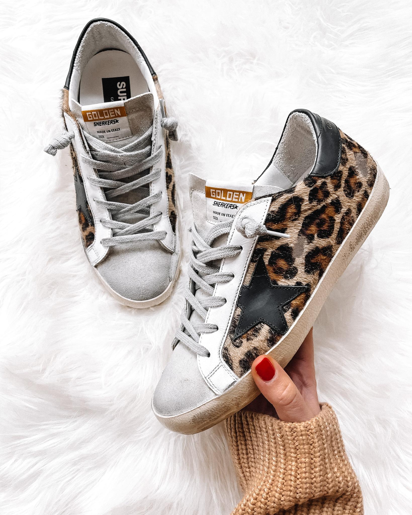 Fashion Jackson Golden Goose Superstar Leopard Sneakers