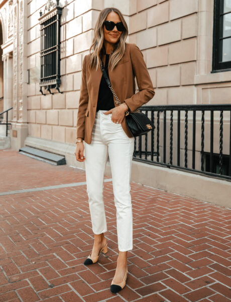 How to Dress Up White Jeans for Spring