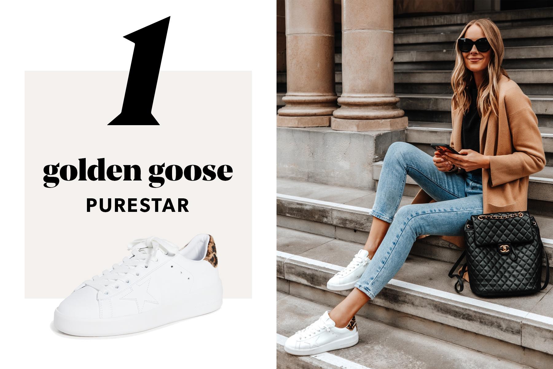 fashion jackson wearing golden goose purestars sneakers