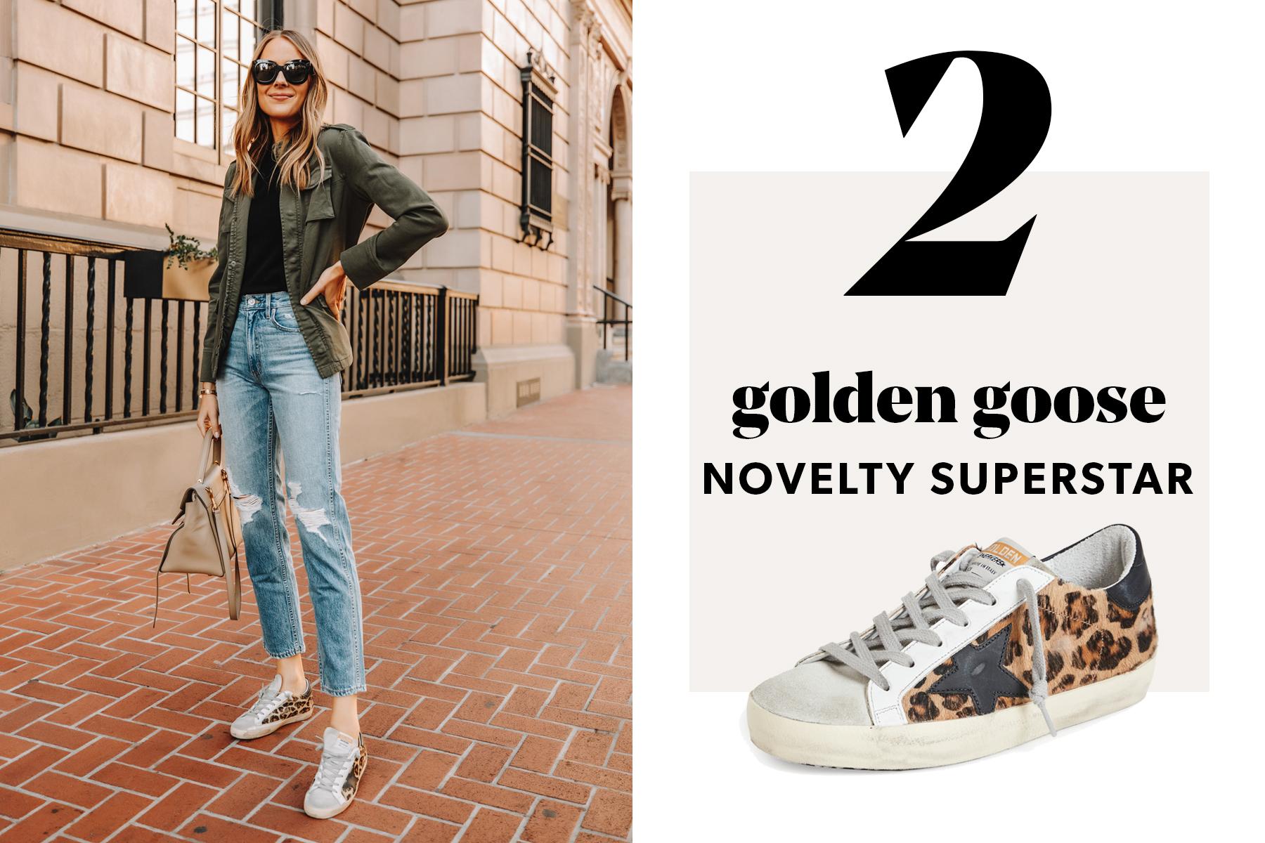 fashion jackson wearing golden goose purestar sneakers