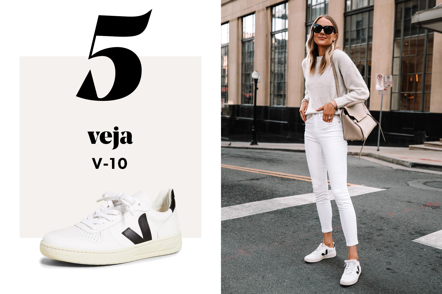 fashion jackson wearing veja v10 sneakers