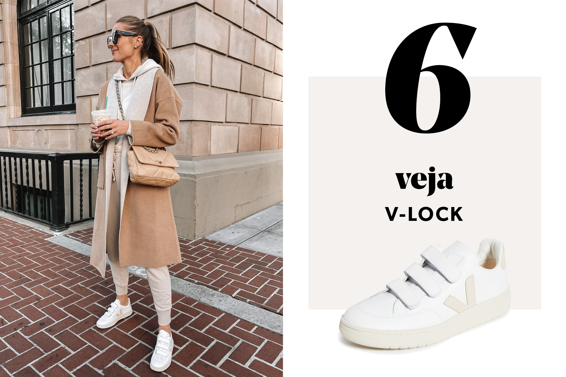 fashion jackson wearing veja vlock sneakers outfit