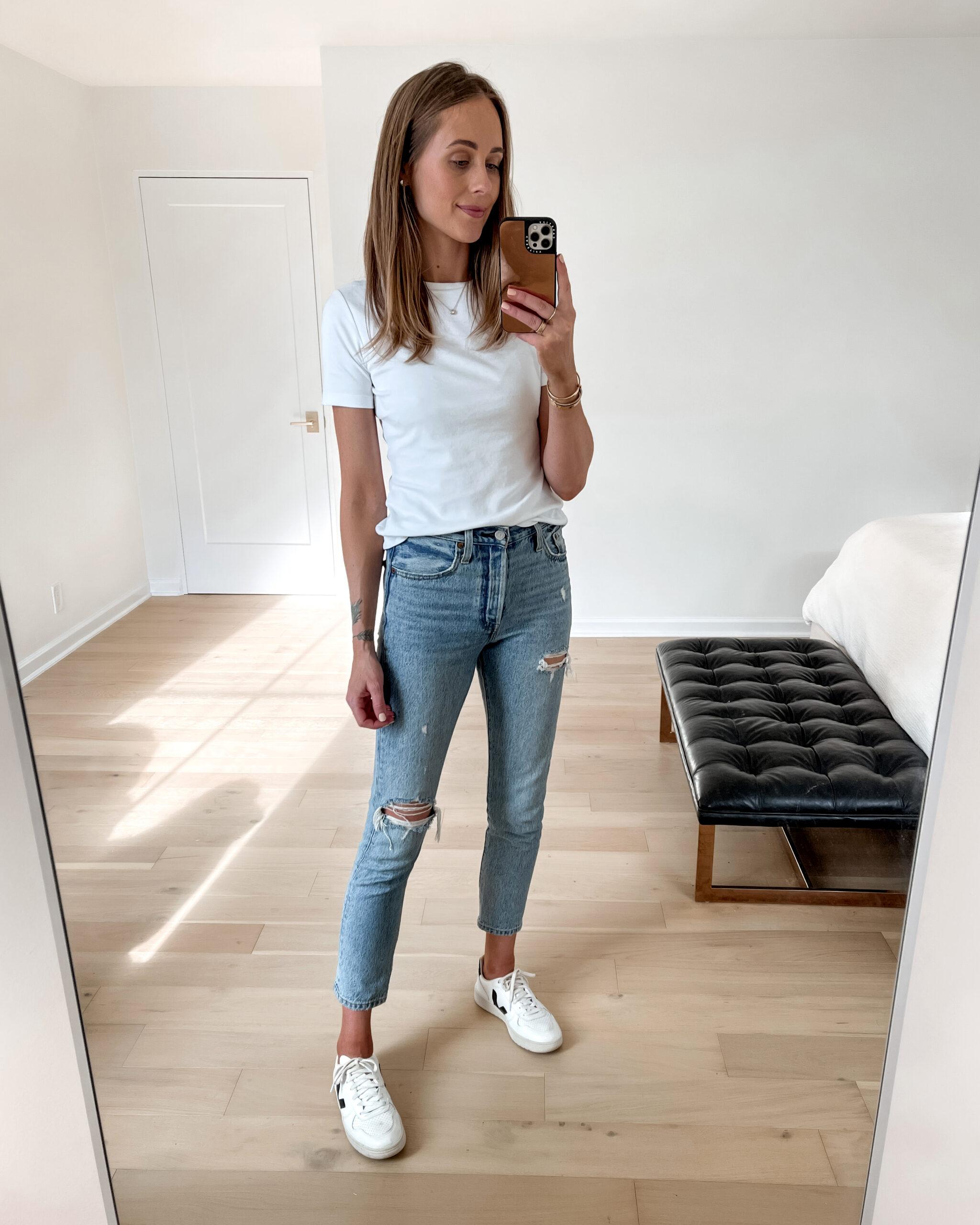 Fashion Jackson Amazon Fashion Made For You Fitted White Crewneck Tshirt