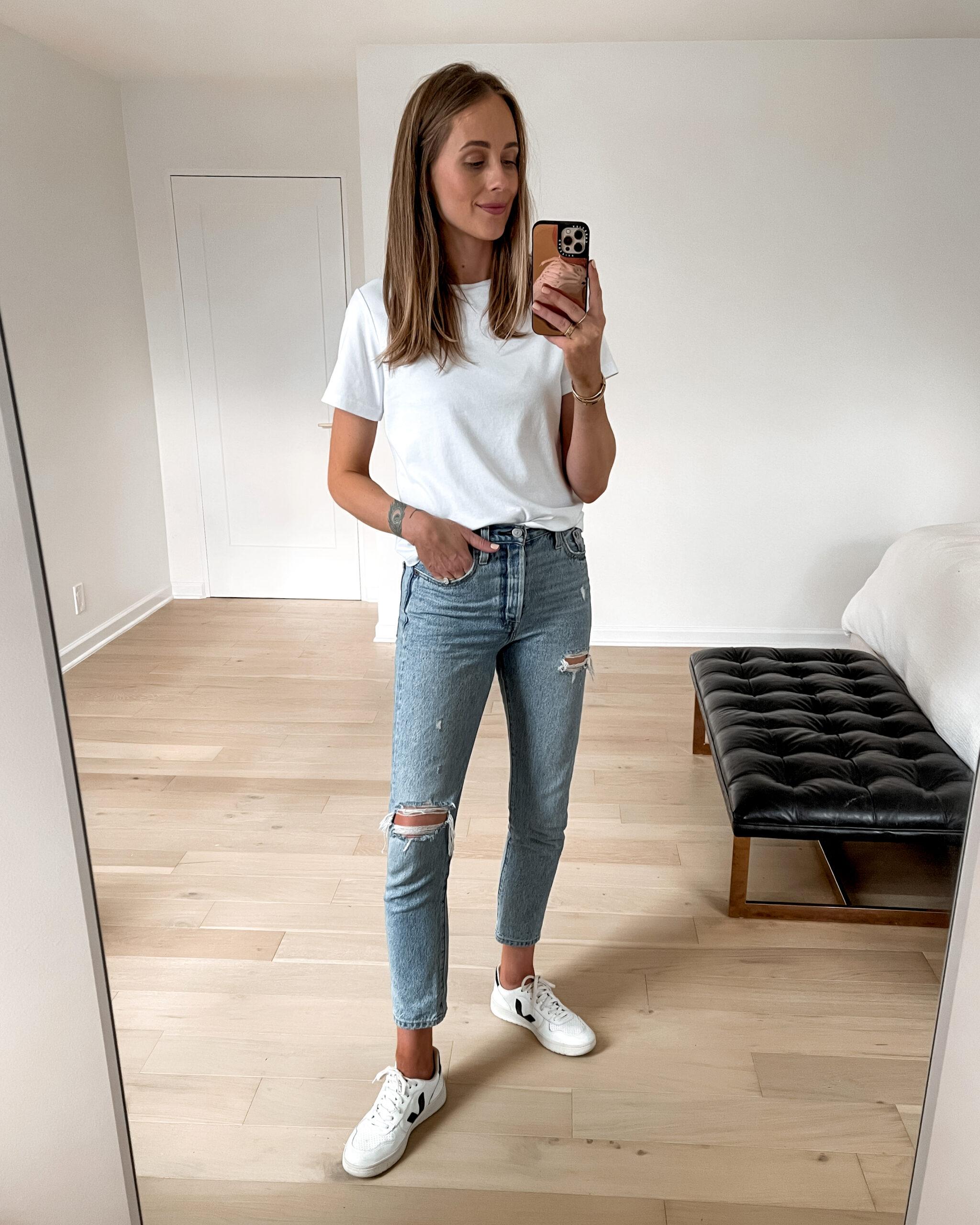 Fashion Jackson Amazon Fashion Made For You Relaxed White Crewneck Tshirt