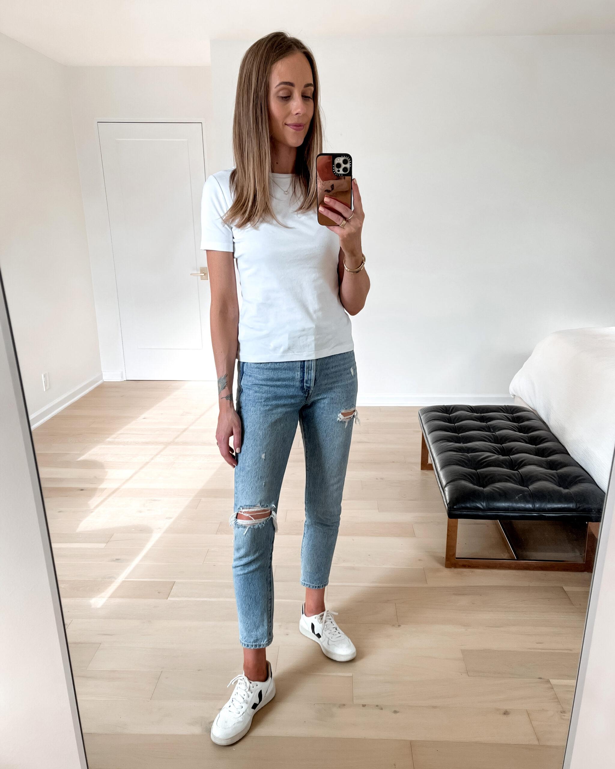 Fashion Jackson Amazon Fashion Made For You White Crewneck Tshirt