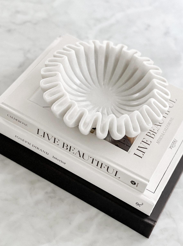 Fashion Jackson Etsy Marble Decorative Bowl Coffee Table Books