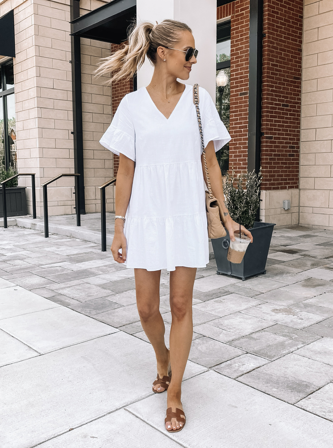 Fashion Jackson Wearing Amazon Fashion White Summer Dress