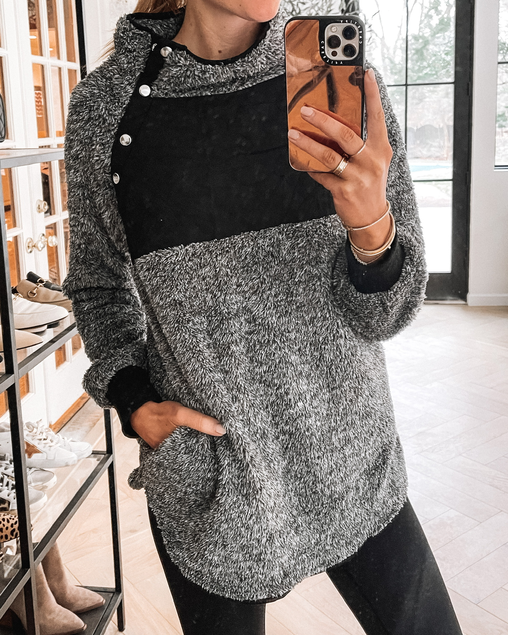 Fashion Jackson Wearing Amazon Quilted Fleece Pullover