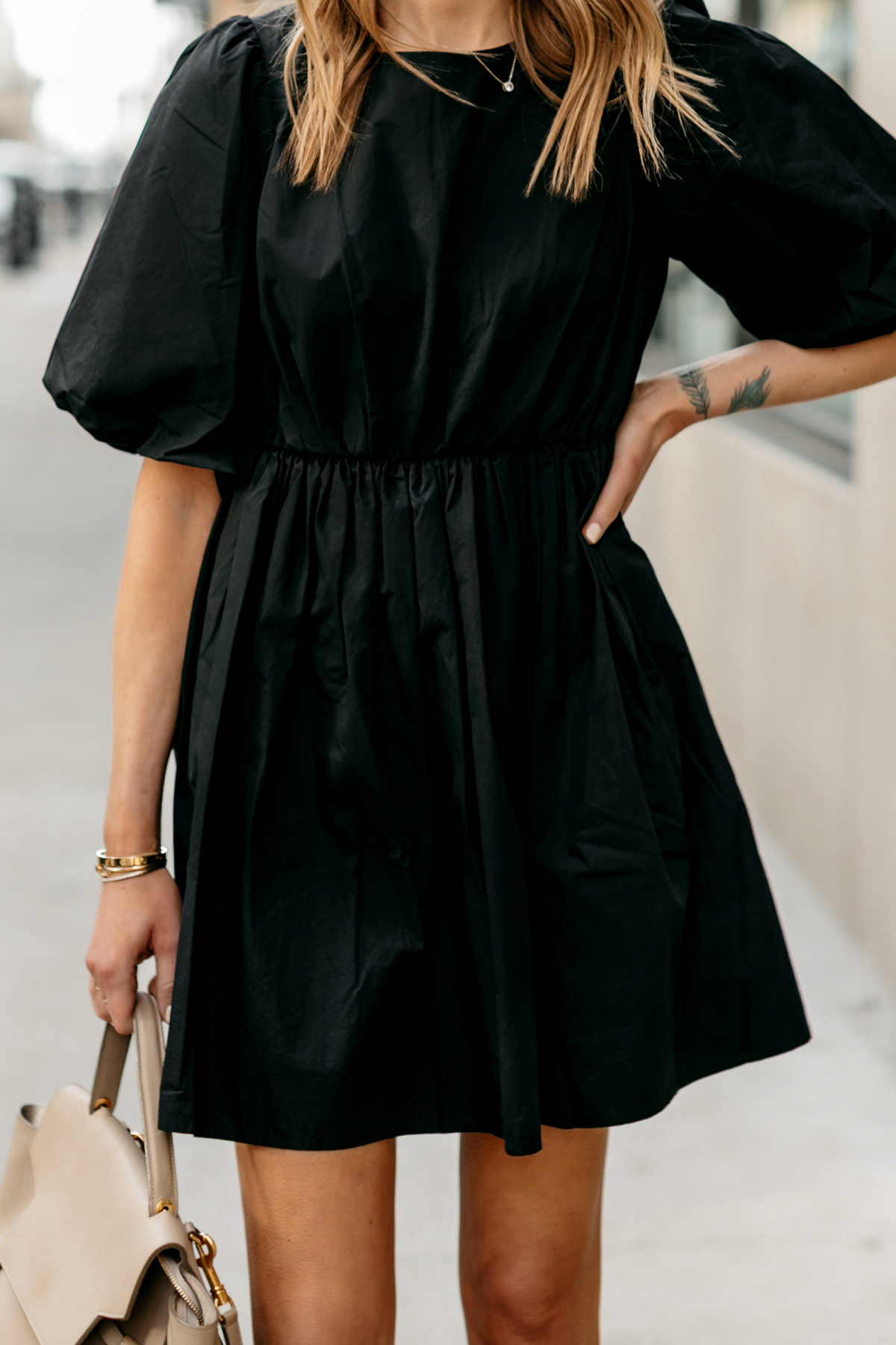 Fashion Jackson Wearing Madewell Little Black Dress Outfit 1