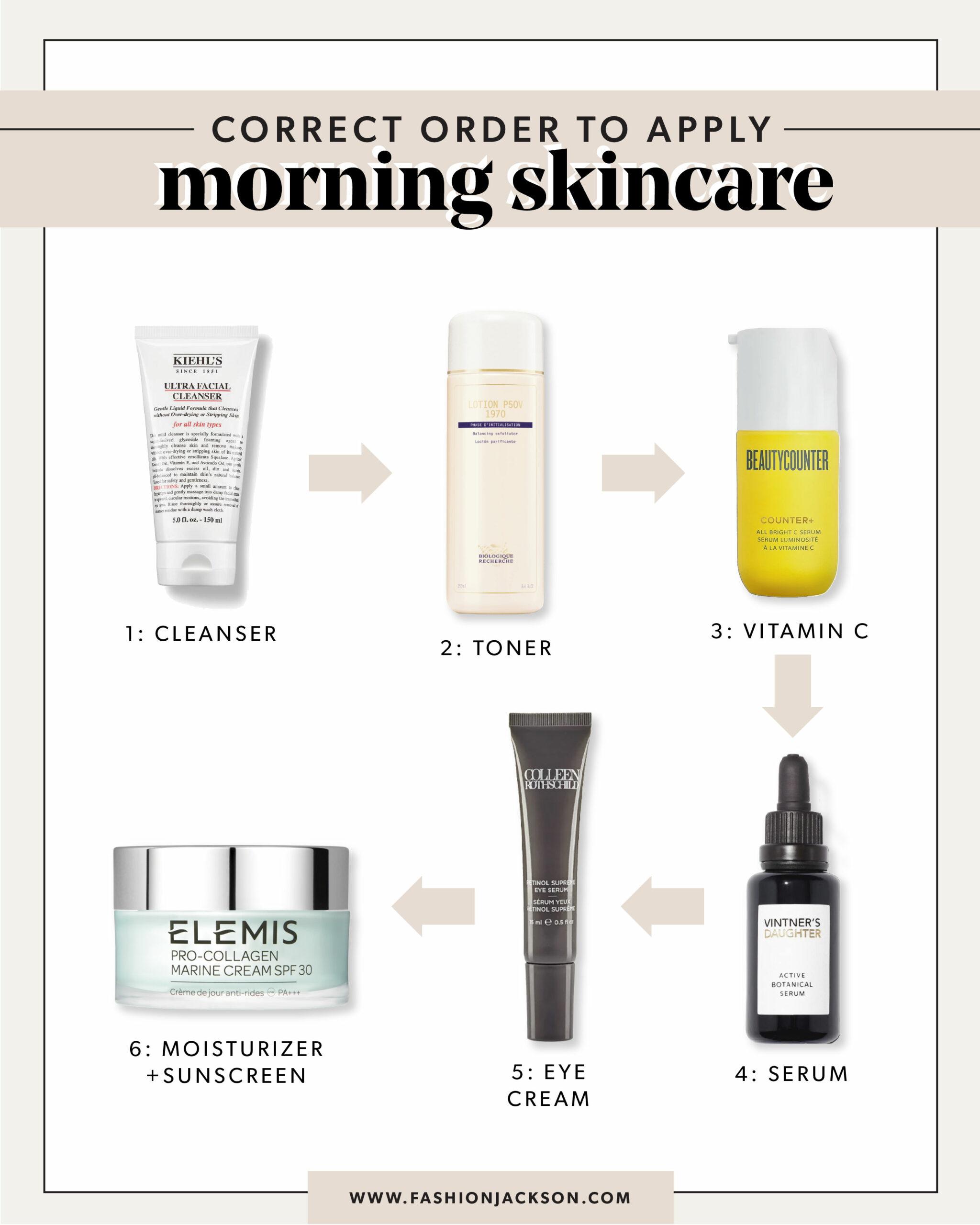 fashion jackson correct order to apply skincare morning routine