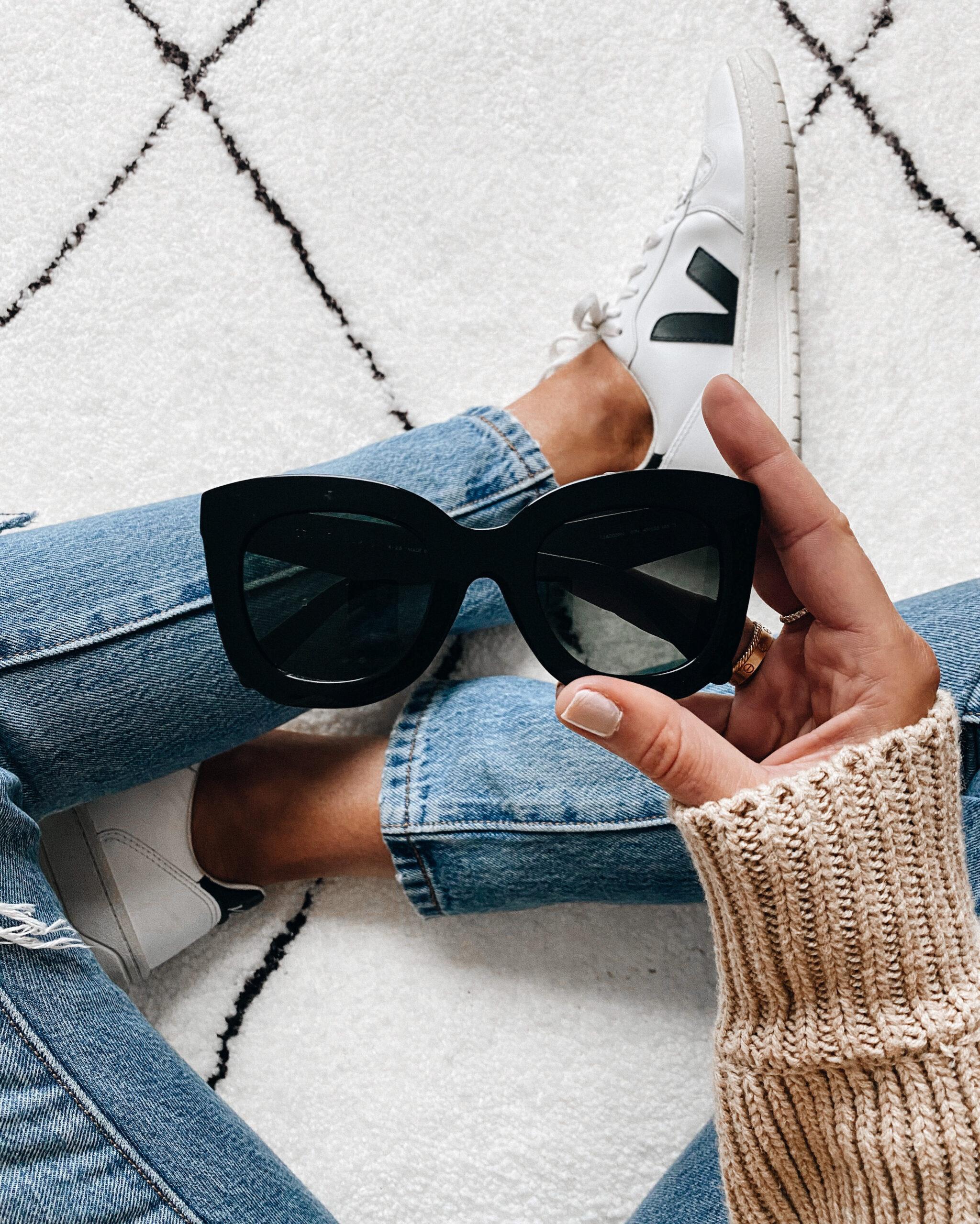 Fashion Jackson Celine Cat Eye Sunglasses Black