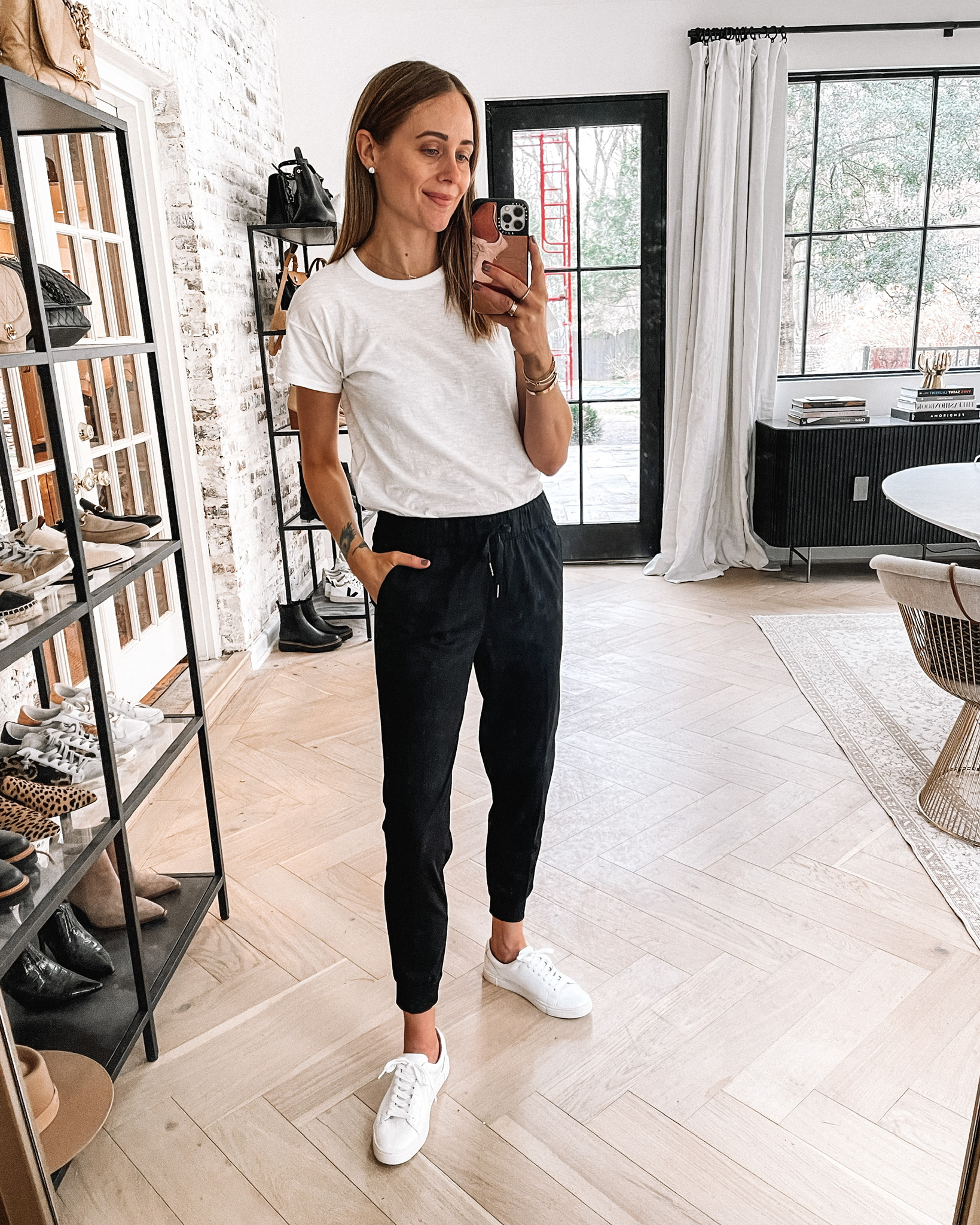Fashion Jackson Wearing Amazon Fashion Black Joggers White Tshirt White Sneakers