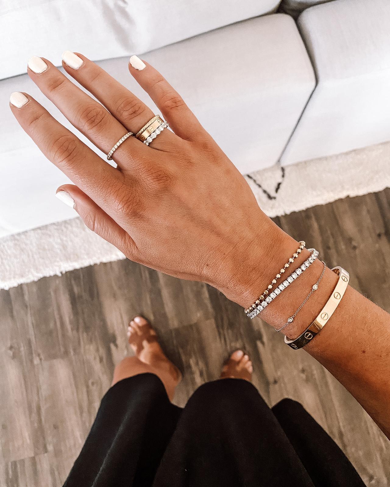 Fashion Jackson Wearing Amazon Fashion Jewelry CZ Diamond Tennis Bracelet