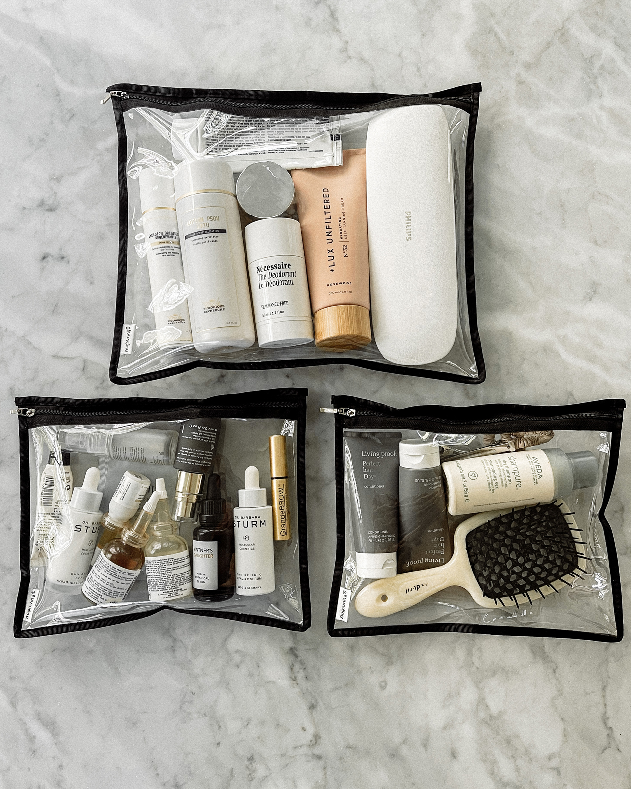 Fashion Jackson Whats In My Beauty Travel Bag Amazon Clear Storage Pouches