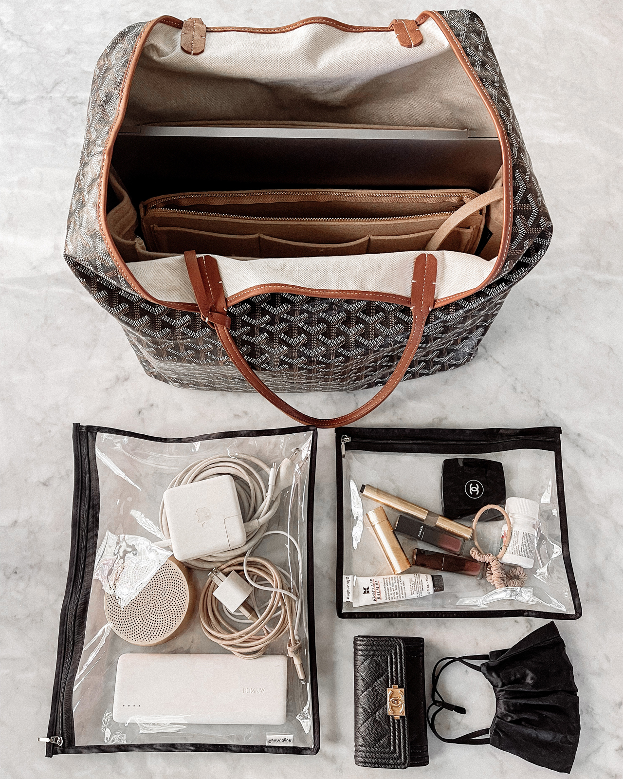 Fashion Jackson Whats In My Travel Bag Goyard Tote Clear Storage Organizers 1