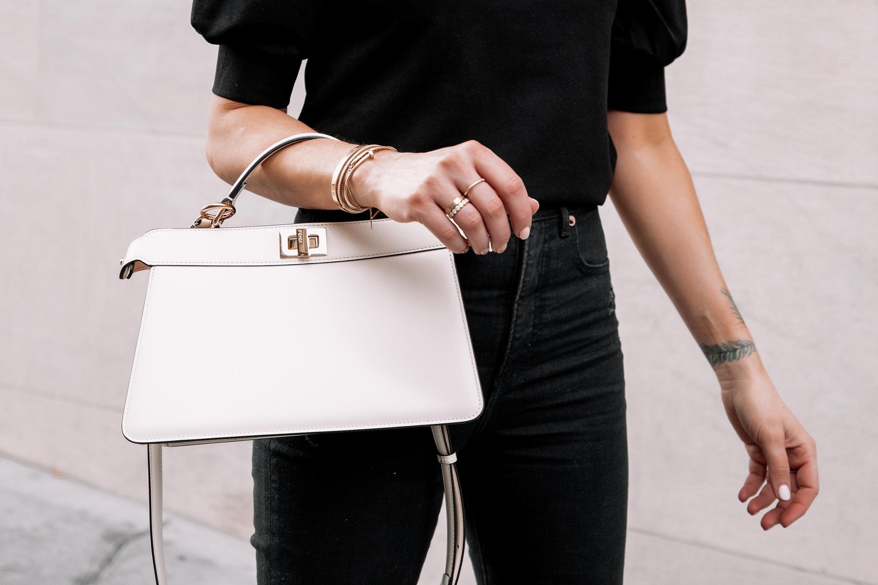 Fashion Jackson Fendi White Peekaboo Handbag