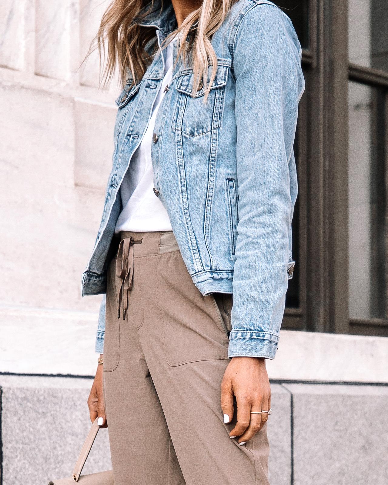 Fashion Jackson Wearing Gap Denim Jacket