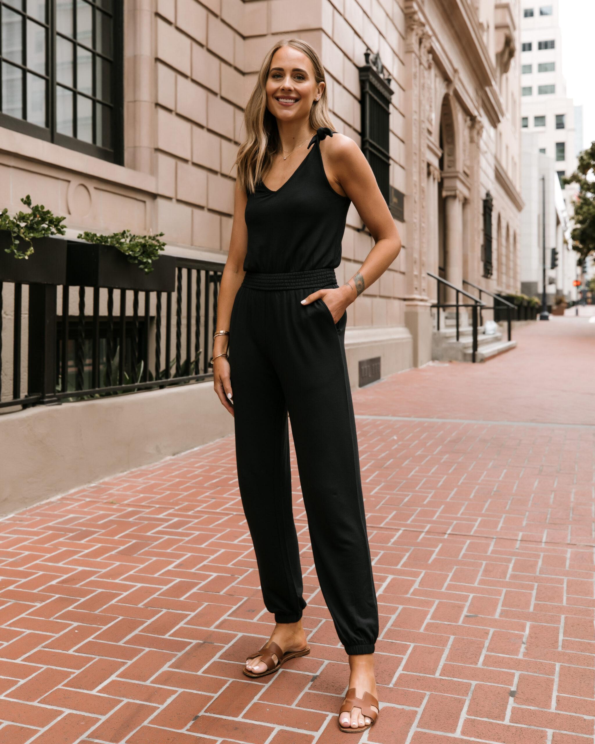 Fashion Jackson Wearing Black Jumpsuit Amazon The Drop Collection
