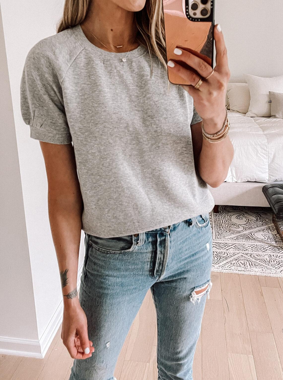 Fashion Jackson Wearing Amazon Fashion Goodthreads Short-Sleeve Sweatshirt