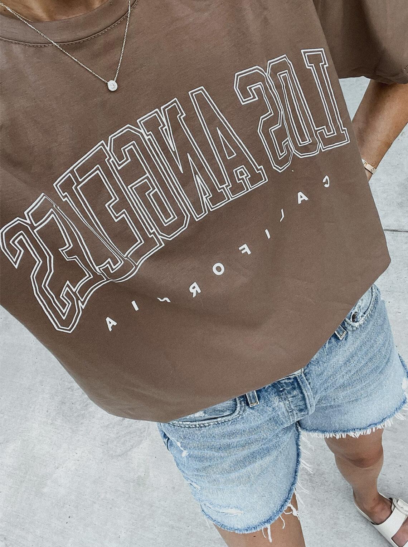 Fashion Jackson Wearing Amazon Fashion Los Angeles Graphic Tshirt
