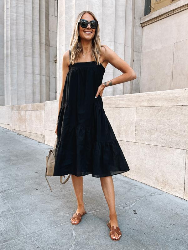 Fashion Jackson Wearing Jenni Kayne Summer Dress Black