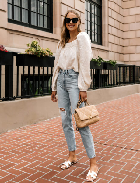 A Simple Summer Weekend Outfit With This $60 Top