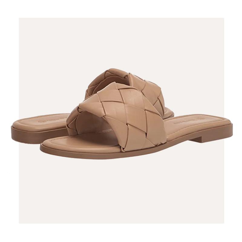 Amazon The Drop Carlyn Woven Flat Sandal Open Toe