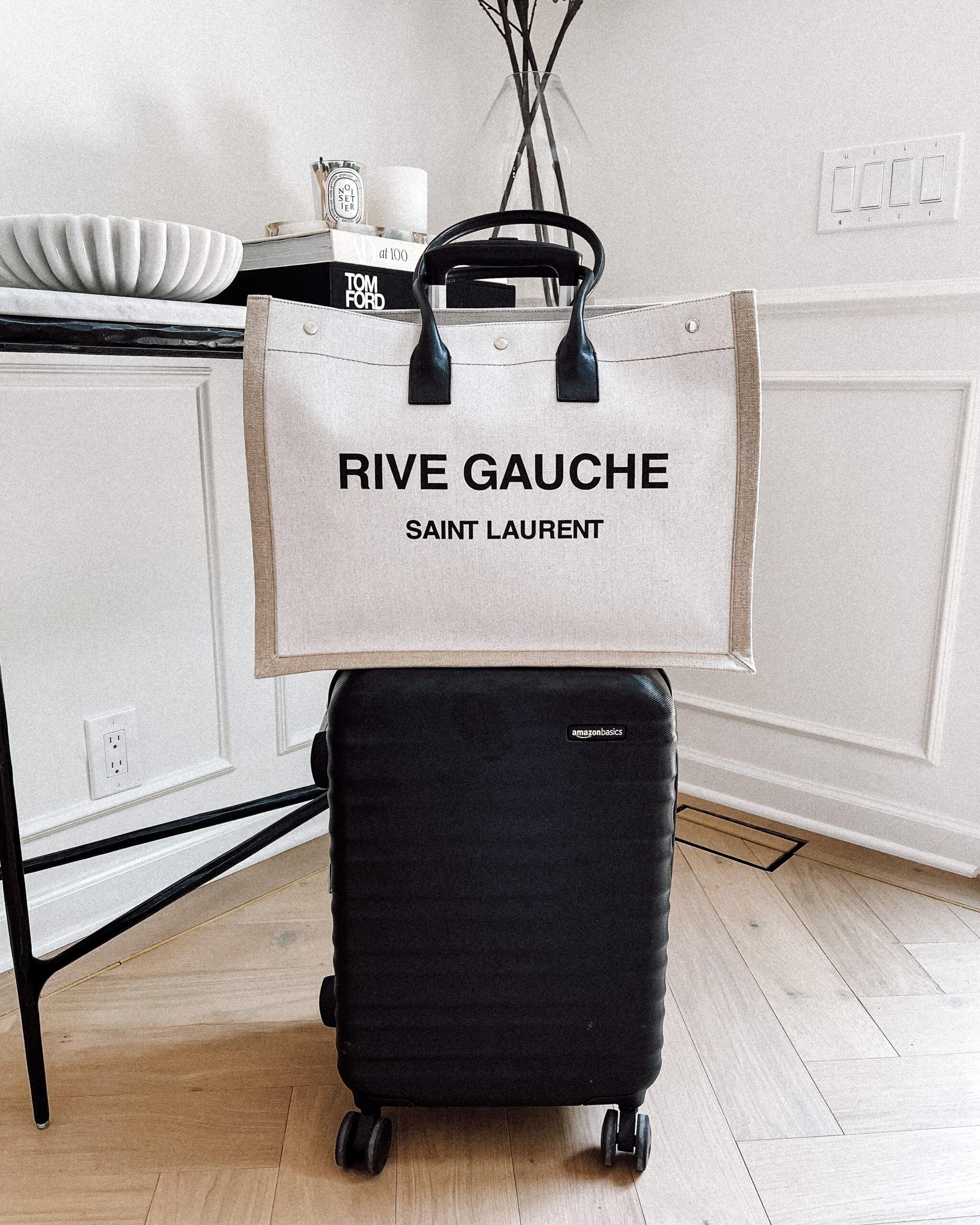 Fashion Jackson Saint Laurent Rive Gauche Logo Tote Bag Amazon Black Suitcase