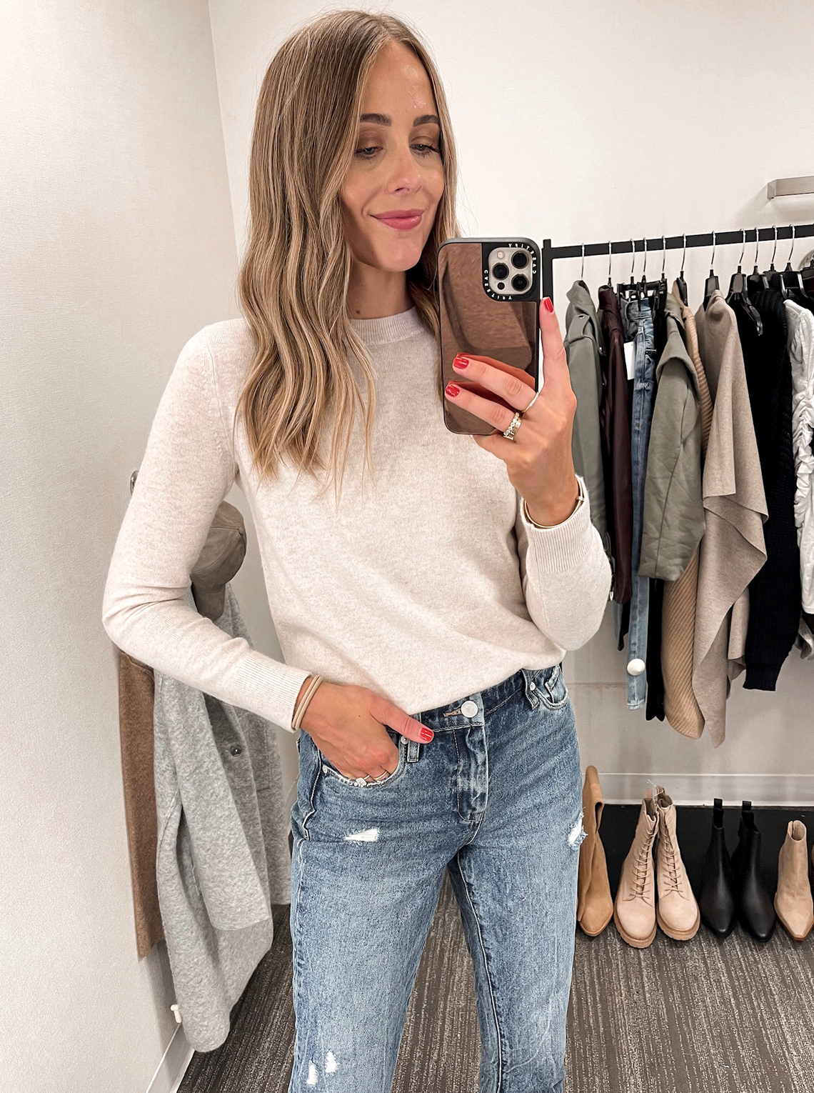 Fashion Jackson Vince Cashmere Sweater BlankNYC ripped jeans NSALE