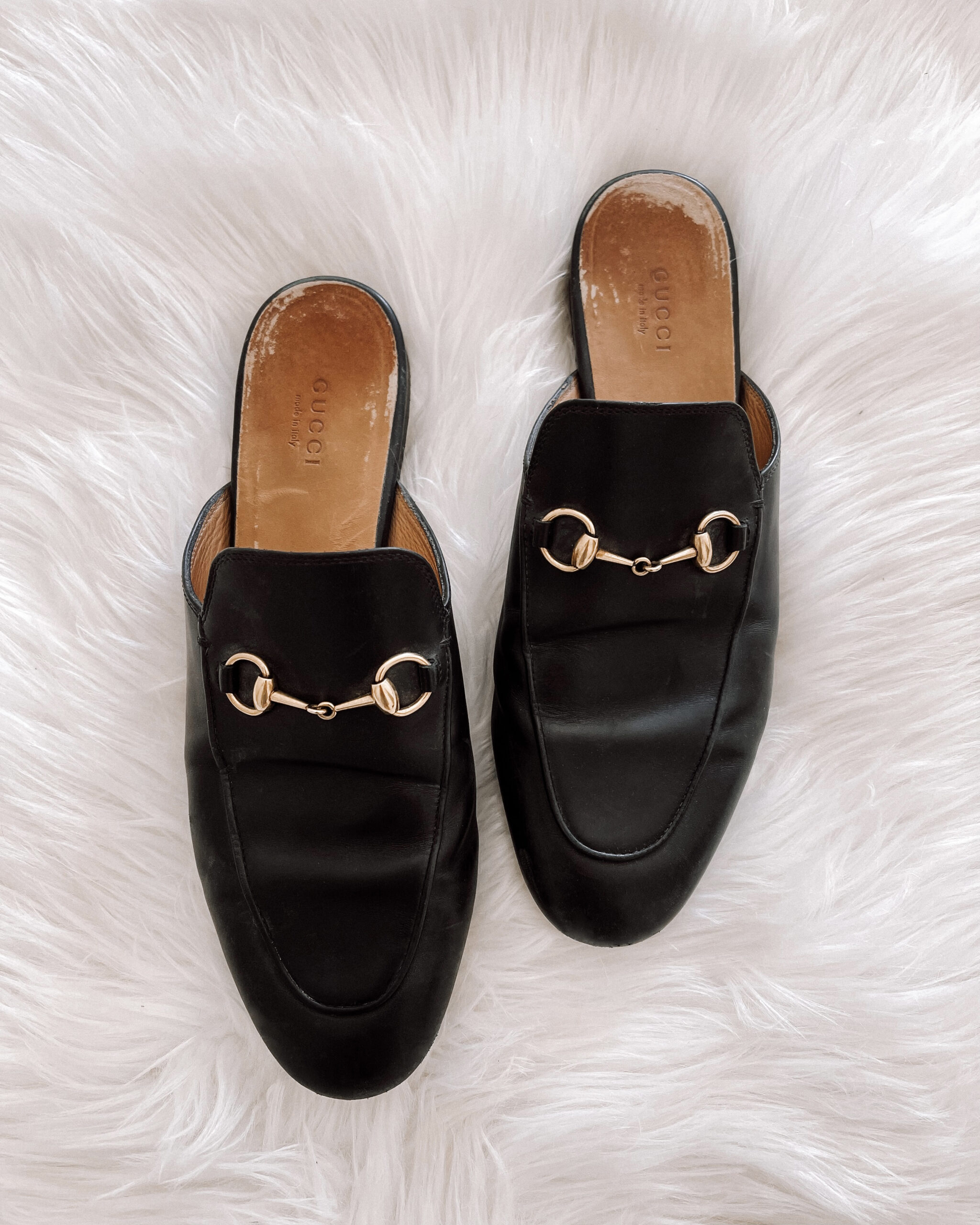 Fashion Jackson Black Gucci Princetown Mules