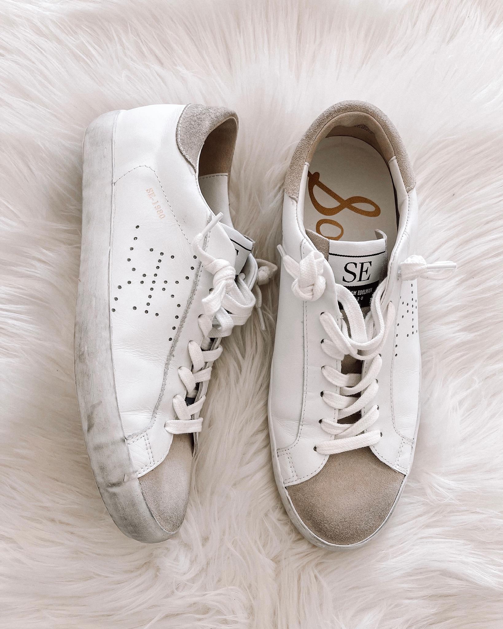 Fashion Jackson Sam Edelaman Aubrie White Sneakers