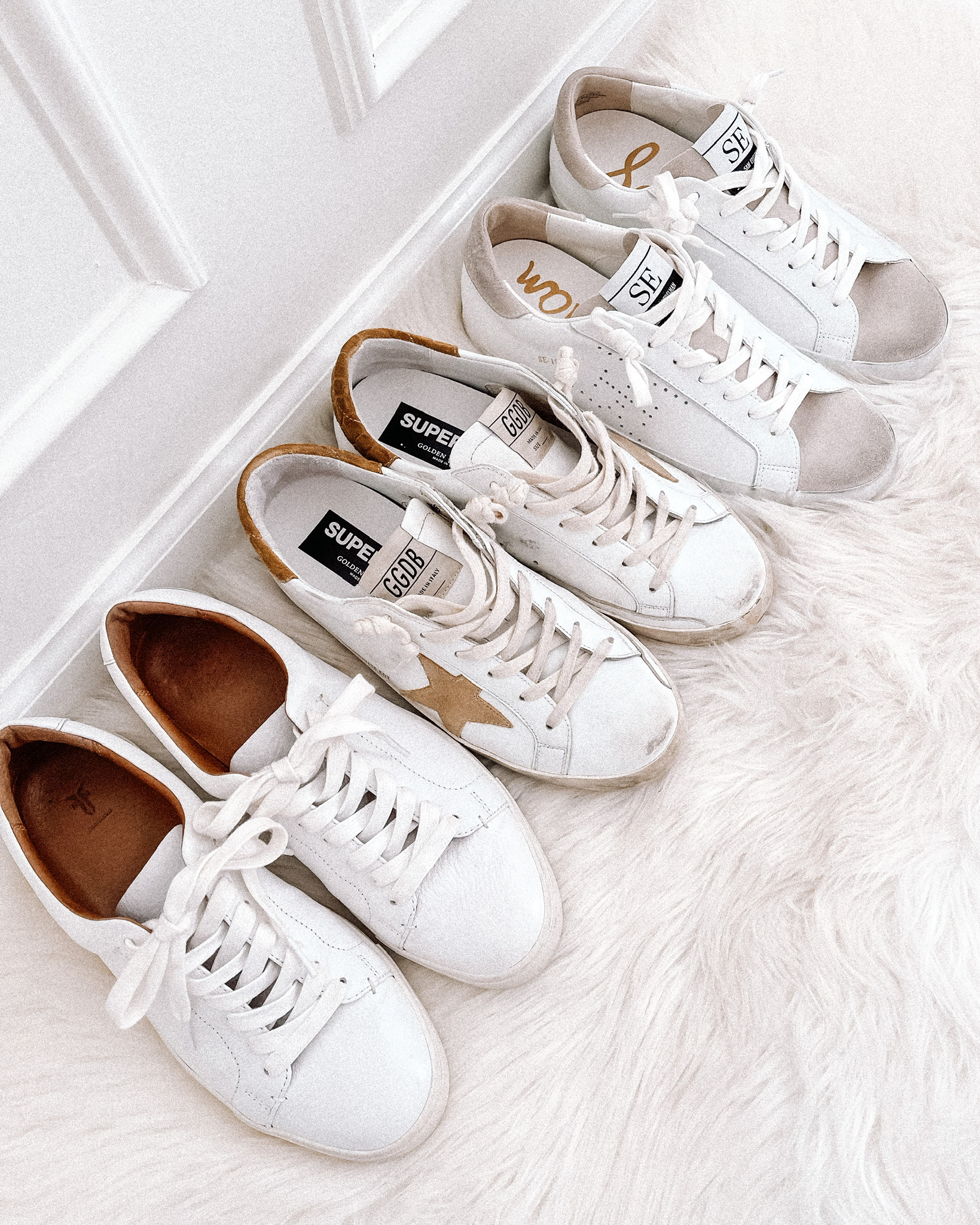 Fashion Jackson Casual White Sneakers Frye Sneakers Golden Goose Sneakers Sam Edelman Sneakers