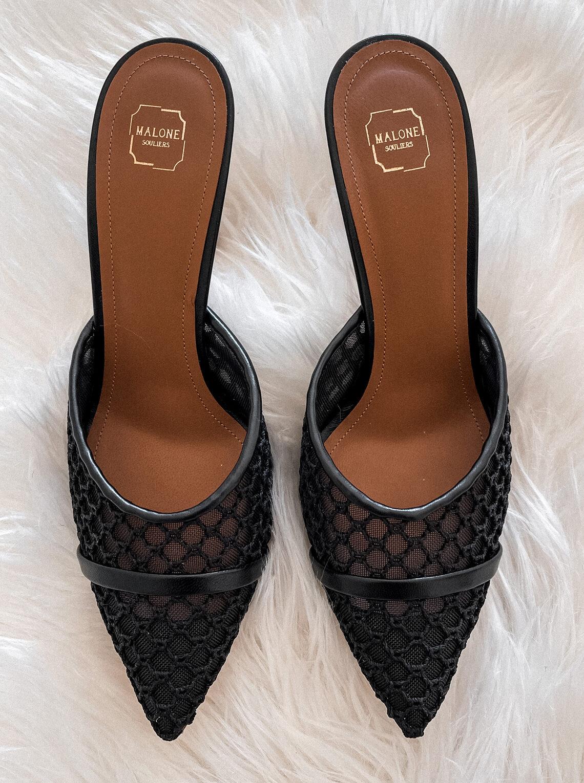 Fashion Jackson Malone Souliers Black Mesh Mules
