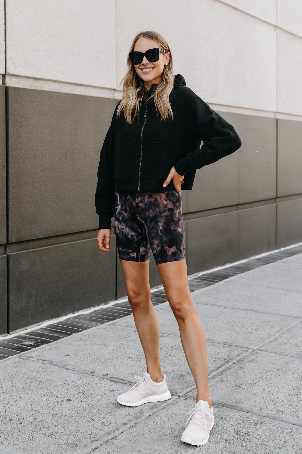 Fashion Jackson Wearing lululemon Align Biker Shorts Review Fitness Outfit