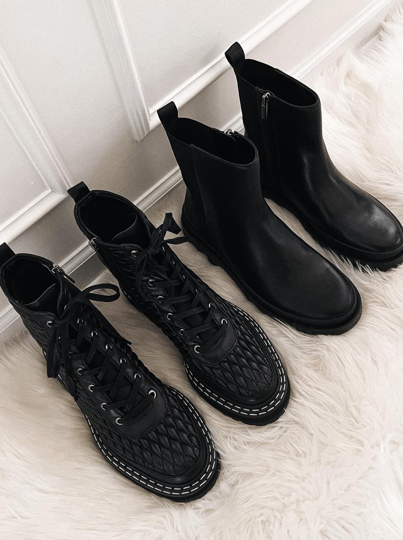 Fashion Jackson Vince Camuto Black Combat Boots Black Lug Sole Boots