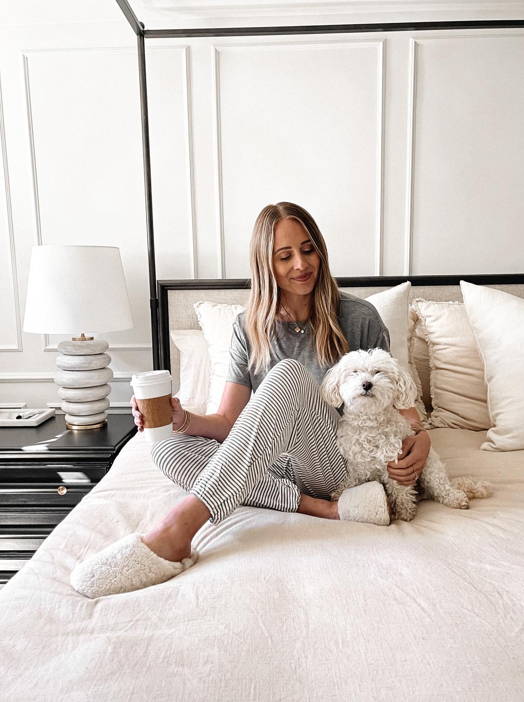 Fashion Jackson Wearing Soma Striped Pajama Set