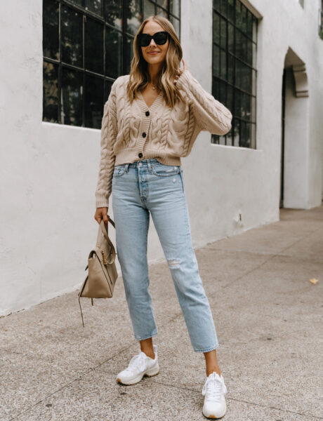 An On-Trend Cable Cardigan Fall Outfit